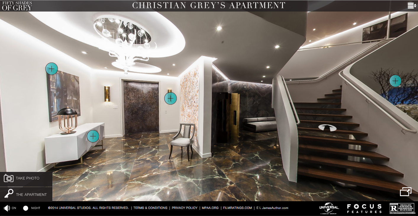 La touche christian grey pour red corer votre for Appartement deco cinema