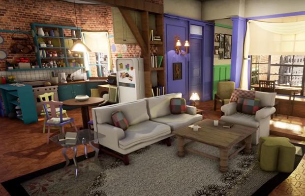 Visitez en 3d l appartement de monica dans friends spotern for Appartement en 3d